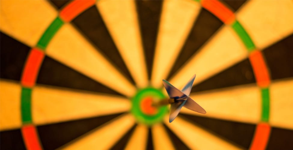 Hit the bullseye! Don't Try, Just Do it!